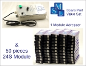 Addresser + Module Set 6 (24S), 1 adresser and 50 modules
